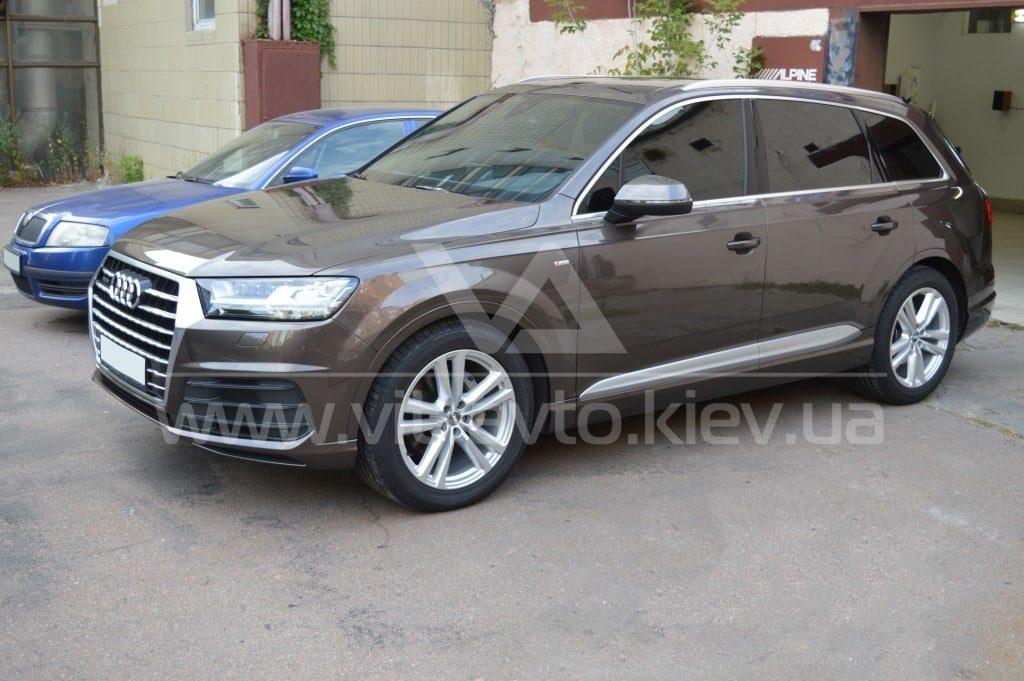 Нанокерамика на Audi Q7 вид сбоку фото 1