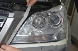Полировка фар Mercedes GL 500 фото 5