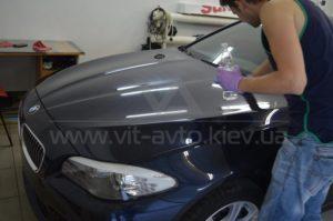 Снятие защитной пленки с BMW F10 фото 4