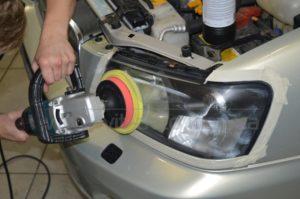 Полировка фар на Subaru Forester фото 4