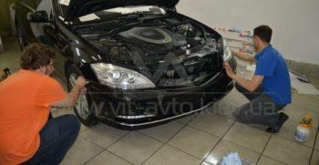 Антигравийная пленка на Mercedes W221 фото 7