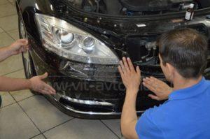 Антигравийная пленка на Mercedes W221 фото 6
