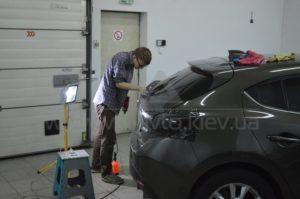 Тонировка фар на Mazda 3 фото 2