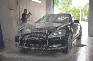 Антигравийная пленка на Mercedes W221 фото 1