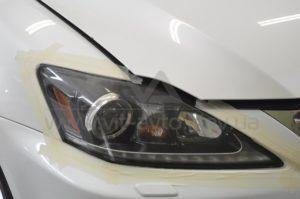 Оклейка фар Lexus IS 250 фото 1