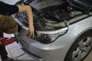 Полировка фар на BMW 5-Series фото 4