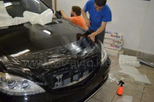 Антигравийная пленка на Mercedes W221 фото 4