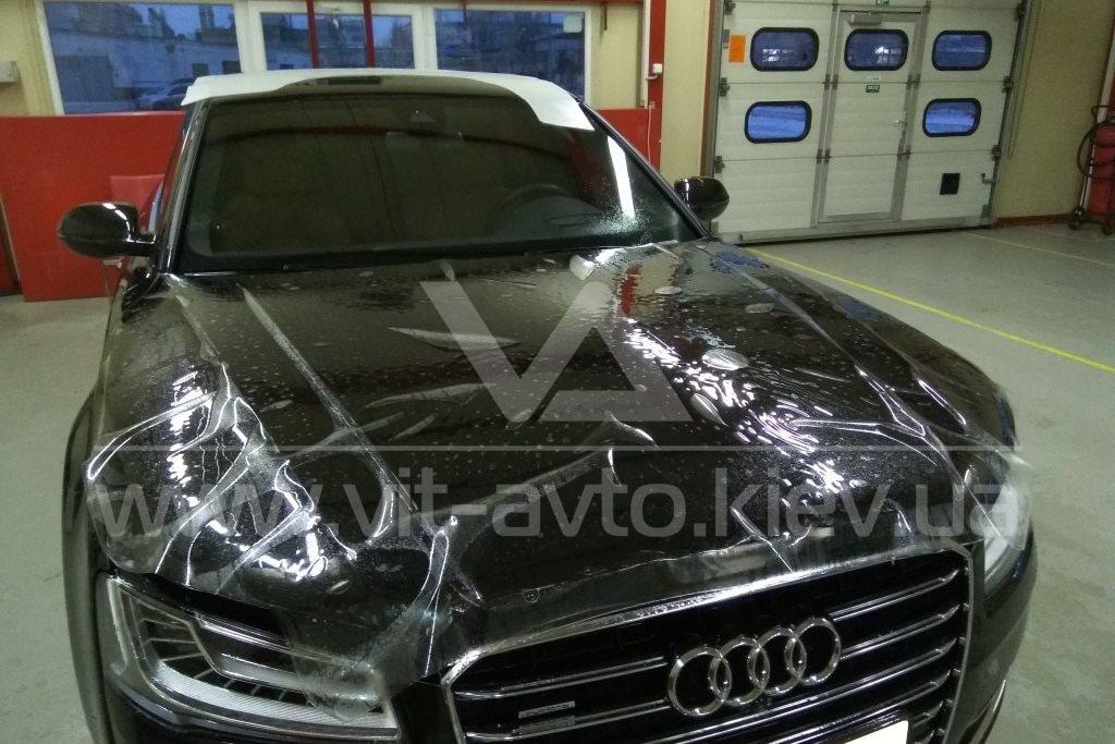 Фото защиты кузова Audi A8 пленкой и керамикой - 3