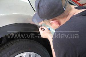 Фото антигравийной защиты кузова KIA Sportage - 3