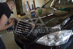 Фото антигравийной защиты кузова Mercedes w221 - 4
