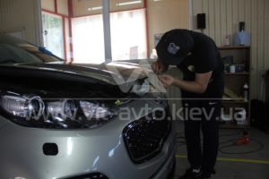 Фото антигравийной защиты кузова KIA Sportage - 6