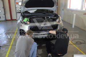 Фото антигравийной защиты кузова KIA Sportage - 7